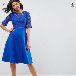 ASOS Premium Lace Insert Dress